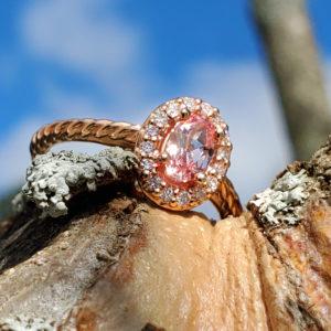 14k Rose Gold Ring Set
